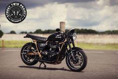 Triumph Cafe Racer Sideways Triumph Tours - J-F Muguet #motorcycles #caferacer #motos | caferacerpasion.com