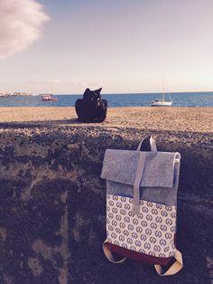 Maritimen Rucksack Nähen mit Ankern
