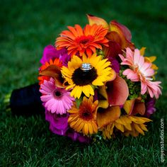 sunflower and gerber daisies wedding bouquets - Bing Images