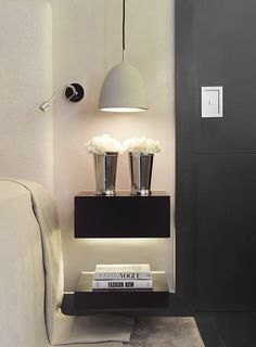 Chic bedside table decor. Chic nightstand decor | Kelly Hoppen Interiors.