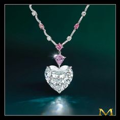 Moussaieff Jewellers. Pink and white diamond necklace... by the House of Moussaieff