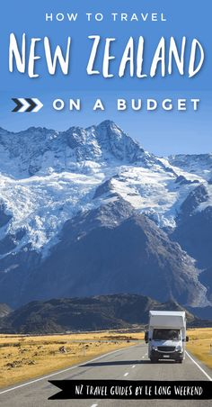 Looking to travel to New Zealand on a budget? It can be done! Find out the cheapest ways to get there, how to get around, where to stay and how to eat cheaply in this complete guide. Budget Travel, Travel Plan, Travel Hacks, Travel Advice, Travel Tips, New Zealand Itinerary, New Zealand Travel Guide, Amazing Destinations, Travel Destinations