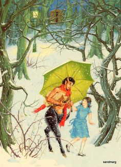 The Lion the Witch and the Wardrobe Lucy and Mr Tumnus In the Forest Pauline Baynes.