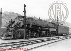 N&W Class Y6b 2190 Left Side 3/4 View at Williamson,WV May 22,1953
