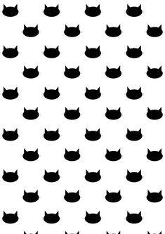 FREE printable cat pattern paper | #blackandwhite