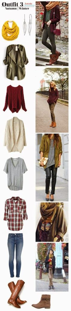 Fashionable Different Autumn and Winter Combinations for Ladies