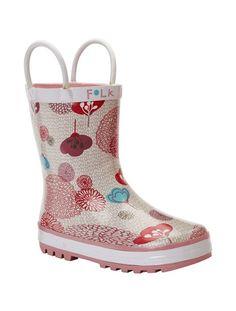Galochas estampadas para menina  #galochas Wellington Boot, Amelia, Rubber Rain Boots, Printed, Shoes, Fashion, Gray, Little Girls, Block Prints