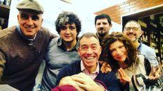 Giovanna Carparelli junto a los @argwinebloggers en la Cueva