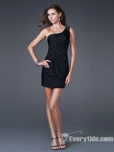 Wholesale Sexy One-shoulder Empire Sheath / Column Mini Graduation Dresses / Evening Party
