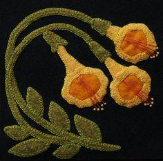 Wool applique BOM PATTERN &/or KIT Trumpet Vine