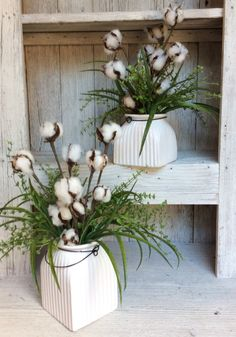 Cotton Floral ArrangmentFixer upper style Small Floral by Keleas