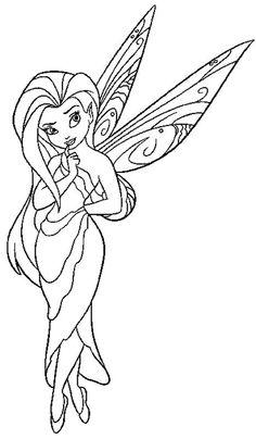 disney fairies coloring pages fawn doberman | Coloriage La Fée Clochette à colorier - Dessin à imprimer ...