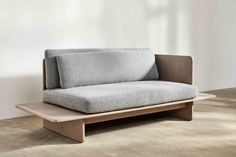 A minimalist design for cosy, relaxed lounging, the Muse Sofa can be made in bespoke sizes as well as L shaped & U shaped configurations. Metal Furniture, Sofa Furniture, Custom Furniture, Gym Design, Wood Design, Diy Sofa, Chaise Sofa, Home Decor Kitchen, Living Room Interior