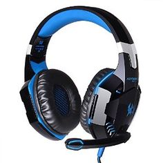 Model: EACH Mic sensitivity: +/- Mic impedance: USB plug is used for lighting up headset LED light ONLY. Headset interface: stereo + USB (plug the USB connector, LED light is on, unplug, it off). Best Gaming Headset, Ps4 Headset, Gaming Headphones, Headphones With Microphone, Headphone With Mic, Noise Cancelling Headphones, Over Ear Headphones, Bass Headphones, Lights