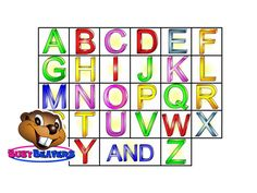 Hey Beavers! Let's Get Busy with this Fun & Funny Learning Video that Teaches the Alphabet and the Phonetic Sound of Each Letter.