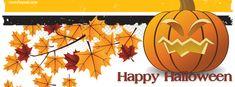 Jackolantern Pumpkin Halloween Leafs Facebook Cover CoverLayout.com