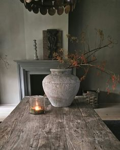 Kruik sobere styl Wabi Sabi, Great Rooms, Decor Styles, Sober, Rustic, Country Living, Country Style, French Country, Living Room