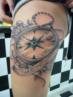 Compass Tattoo - like the sentiment  but design tad girlie for me.