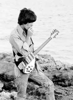 George Harrison on the set of Help! in the Bahamas, 1965