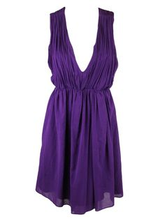 Alice + Olivia womens caprice cross back purple dress M