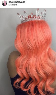 Women Pink Wigs Lace Front Hair Long Pink Wig With Bangs Jem And The Holograms Wig Pink Hair Highlights In Black Hair – tomatoral Peach Hair Colors, Coral Hair, Black Hair With Highlights, Pink Wig, Corte Y Color, Natural Hair Styles, Long Hair Styles, Wigs With Bangs, Lace Hair
