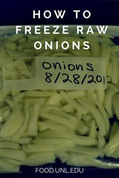 Freezing chopped raw onions helps you avoid food wastes and save money on groceries.