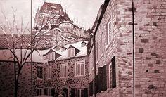 Peinture collective pour l'ordre des Technologistes Médicals du Québec, réalisé lors de leur assemblé générale avec la participation de tous les invités et l'artiste Régent Bilodeau