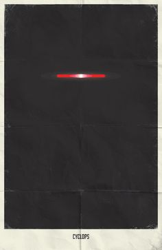 Minimalist Posters  Cyclops from X-Men