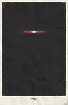 Minimalist Posters  Cyclops from X-Men