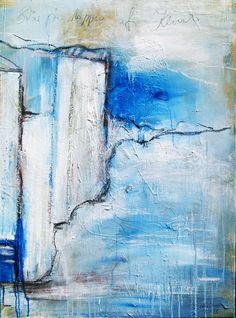 """Unikat Abstrakte Acrylmalerei """"Sta pa toppen af klinten"""" #unikat #kunstkaufen #klippen #steilküste #abstrakt #zeitgenössischemalerei #kust"""