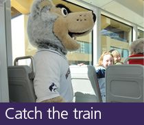 Ways to get to campus -- Catch the Train