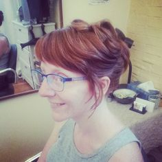MEGAN: Special occasion up-do, loose pincurls, one classy dame. http://bklooks.com