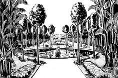 Jardim da Casa Forte, perspectiva, Recife PE. Roberto Burle Marx, 1934-37 [ver nota 42]