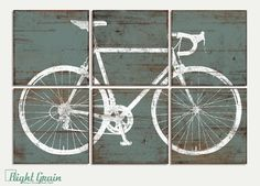 Custom Made Vintage Road Bike Bicycle Sign Wall Art Print Decor RightGrain