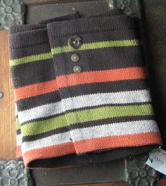 Boot Cuffs, Recycled Sweater,
