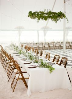 Beachy Bahamas wedding reception decor: Photography : Julie Cate Read More on SMP: http://www.stylemepretty.com/2016/07/11/elegant-all-white-wedding-in-the-bahamas/