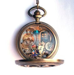 Doctor Who Pocket Watch Necklace The History by TimeMachineJewelry
