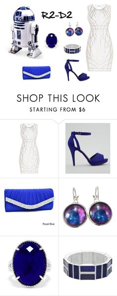 """""""R2-D2 ~ Star Wars"""" by miahadams ❤ liked on Polyvore featuring R2, Hervé Léger, New Look, Dasein, Effy Jewelry and Chaps"""