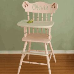 1st birthday high chair option: looking for paint options.