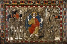 Christ in Majesty -- File:Spanish - Altar Frontal with Christ in Majesty and the Life of Saint Martin - Walters 371188.jpg