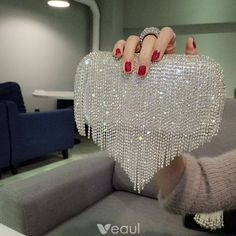 Buy Women Bag Rhinestone Shiny Fringed Clutch Bag Handbag Night Party Purse Evening Party Wedding Banquet Handbag Shoulder Bag Bridal Jewelry Accessories at Wish - Shopping Made Fun Bridal Accessories, Bridal Jewelry, Bag Accessories, Beaded Clutch, Beaded Bags, Bridal Clutch, Bags 2018, Evening Bags, Evening Party