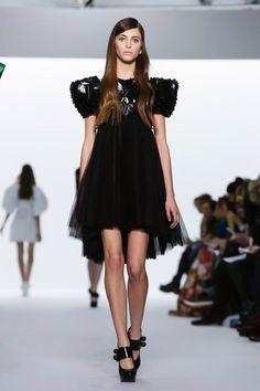 Perfect Tough Chic balance! Dice Kayek Couture Spring Summer 2015 Paris