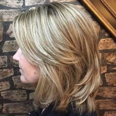 70 Brightest Medium Layered Haircuts to Light You Up - - layered brown blonde hairstyle Medium Length Hair Cuts With Layers, Layered Hair With Bangs, Medium Hair Cuts, Medium Hair Styles, Short Hair Styles, Thick Hair, Hairstyles Haircuts, Cool Hairstyles, Layered Hairstyles