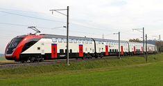 Der neue FV-Dosto der SBB darf mit Fahrgästen fahren Electric Locomotive, Diesel Locomotive, Escala Ho, Third Rail, Swiss Railways, Electric Train, Speed Training, Oil Rig, Switzerland