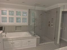 pictures of tiled showers using white tiles - Google Search