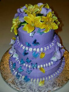 Butterfly cake By:Cheryl's Home Kitchen. Find us on FaceBook!