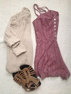 Cute cardigan and dress...