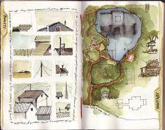architecture sketching...site plan, details