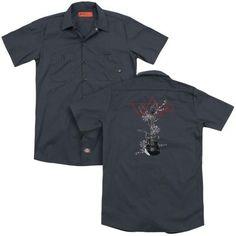 TUNE IT UP Mechanics Work Shirt ~ Dickies ~ Music Skull Rock /& Roll Guitar Band