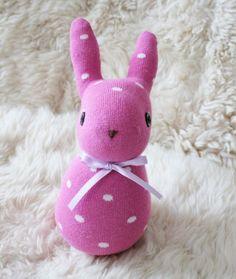 Coniglietto di calzino morbido fatto a mano  modello di CattaDolls